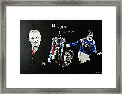 Rangers 9 In A Row  Framed Print