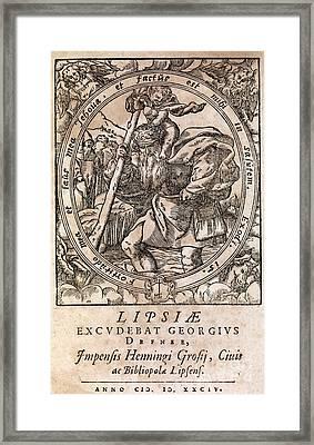 Rantzaus Astrology Book, 1584 Edition Framed Print