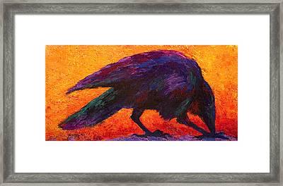 Raven Framed Print by Marion Rose