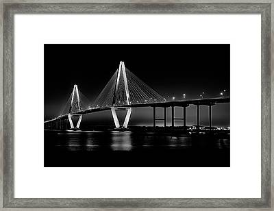 Framed Print featuring the photograph Ravenel Bridge by Bill Barber
