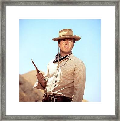 Rawhide, Clint Eastwood, 1959-66 Framed Print