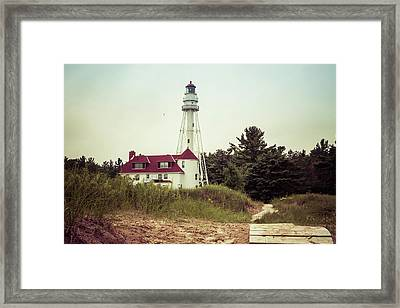 Framed Print featuring the photograph Rawley Point Lighthouse by Joel Witmeyer