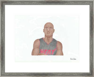 Ray Allen Framed Print by Toni Jaso