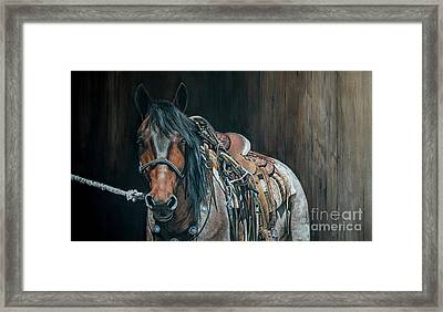 Ready And Willing  Framed Print by Joni Beinborn