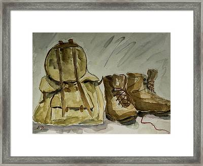 Back From Hiking Framed Print by Elise Palmigiani