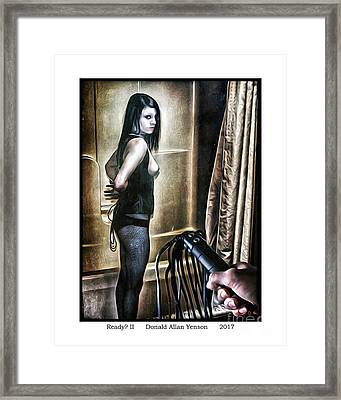 Ready II Framed Print by Donald Yenson