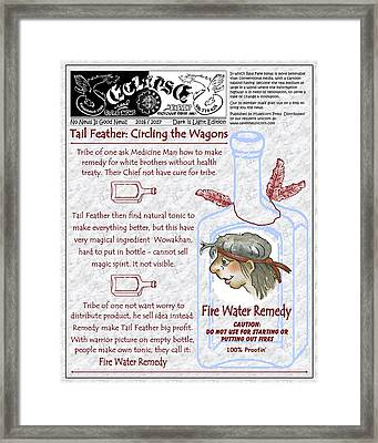 Real Fake News Native American Excerpt Framed Print by Dawn Sperry