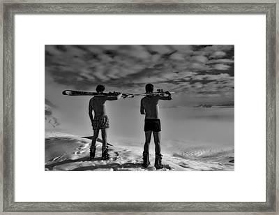 Real Men Wear Boxers Framed Print by Hans Braxmeier