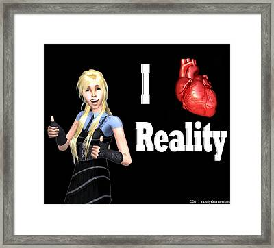 Reality Framed Print by Robert Moore