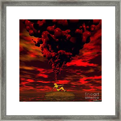 Receiving The Spirit Framed Print by Walter Oliver Neal