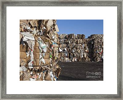 Recycling Facility Framed Print