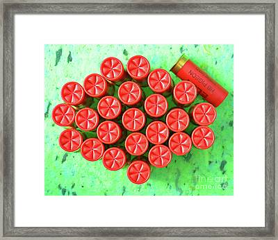 Red Crimps Framed Print