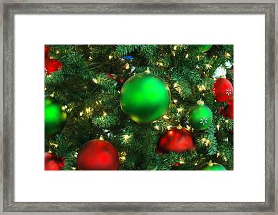 Red And Green Holiday Framed Print