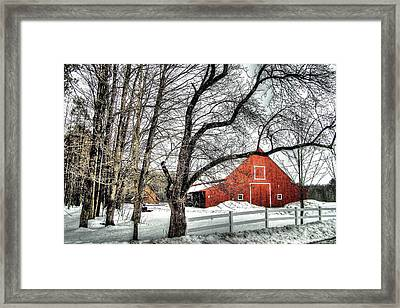 Red And White Framed Print by Betsy Zimmerli