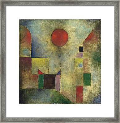Red Balloon Framed Print by Paul Klee