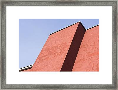 Red Building Framed Print