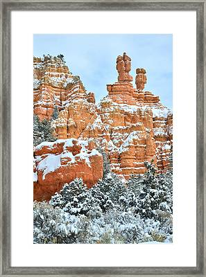 Red Canyon Castle Framed Print