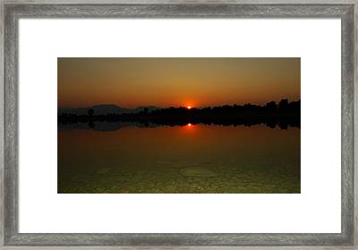 Framed Print featuring the photograph Red Dawn by Eric Dee