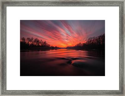 Red Dusk Framed Print by Davorin Mance