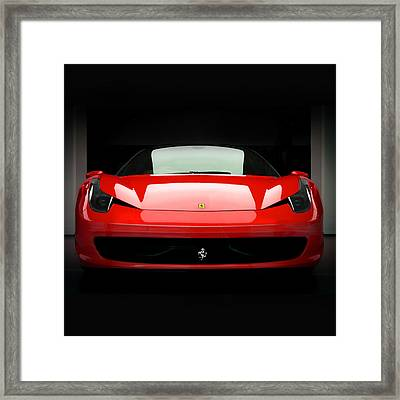 Red Ferrari 458 Framed Print by Matt Malloy