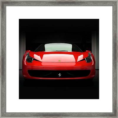 Red Ferrari 458 Framed Print