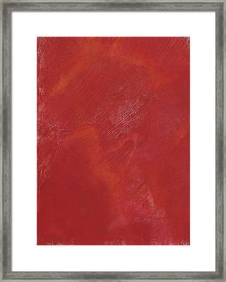 Red Field Framed Print