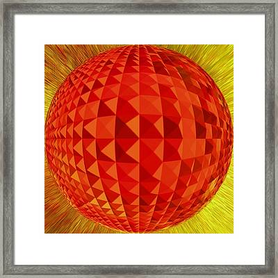 Red-globe Framed Print