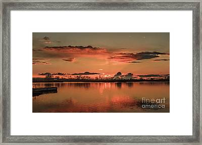 Red Glow Framed Print by Robert Bales