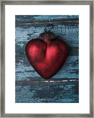 Red Heart Framed Print by Nailia Schwarz