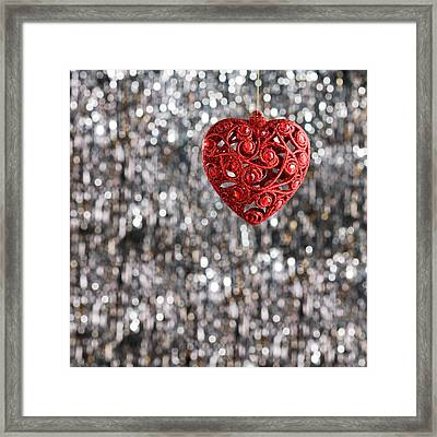 Framed Print featuring the photograph Red Heart by Ulrich Schade