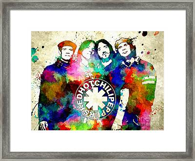 Red Hot Chili Peppers Framed Print by Daniel Janda