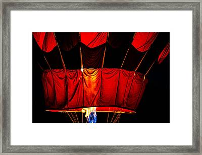 Red Hot Framed Print by Karol Livote