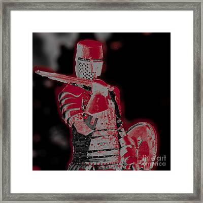 Red Knight Framed Print by Lillian Michi Adams