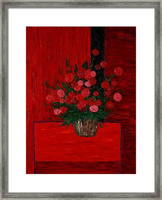 Red On Red On Red Framed Print by Timothy Clayton