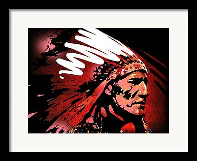 Chief Paintings Framed Prints