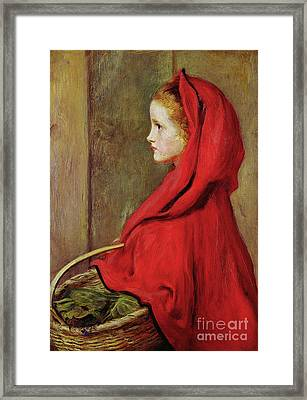 Red Riding Hood Framed Print by John Everett Millais