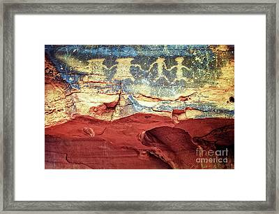 Red Rock Canyon Petroglyphs Framed Print by Jim and Emily Bush