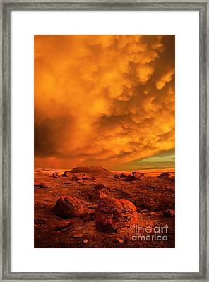 Red Rock Coulee Sunset 2 Framed Print