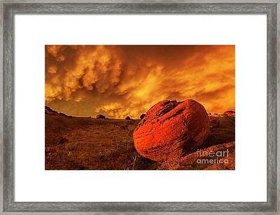 Red Rock Coulee Sunset 3 Framed Print