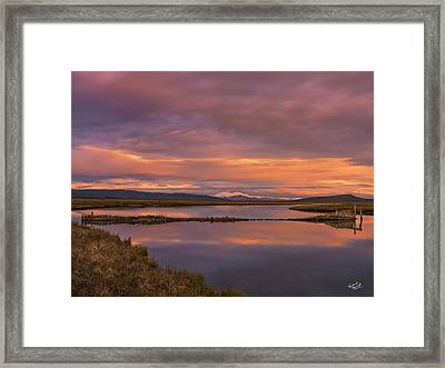 Red Rock Lakes Framed Print by Leland D Howard