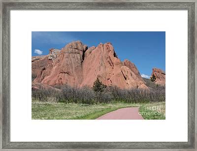 Red Rocks Framed Print by Juli Scalzi