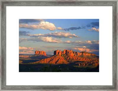 Red Rocks Sunset Framed Print