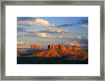 Red Rocks Sunset Framed Print by Alexey Stiop