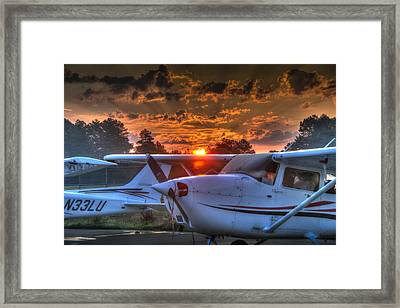 Red Sky In Morning Framed Print