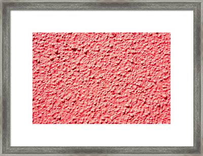 Red Stone Framed Print by Tom Gowanlock
