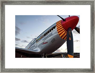 Red Tail At Dusk - 2017 Christopher Buff, Www.aviationbuff.com Framed Print