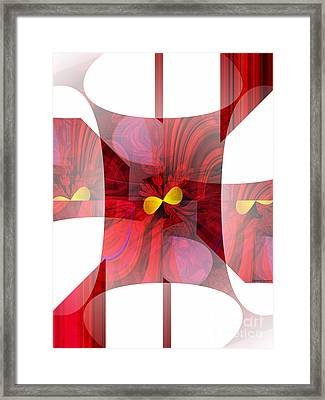 Red Transparency  Framed Print