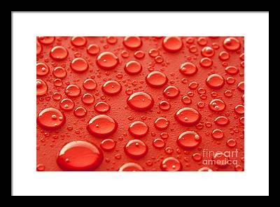 Droplets Framed Prints