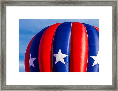 Red White And Blue Balloon Framed Print by Teri Virbickis