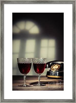 Red Wine Framed Print by Amanda Elwell